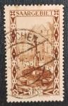 Stamps Germany -  SAARGEBIET - Market Fountain in St. Johann