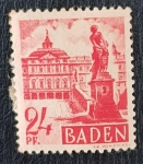 Stamps Europe - France -  Baden/ French Occupation Zone, Rastatt castle