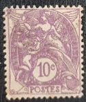 Stamps Europe - France -  Justice & Angels REPVBLIQVE FRANCAISE 1900