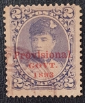 Stamps America - United States -  1893 Hawaii - Provisional administration-red print