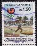 Sellos del Mundo : America : Bolivia : Olimpiadas de Seúl