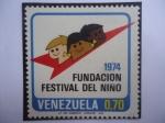 Sellos de America - Venezuela -  Fundación festival del Niño- 1974