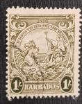 Sellos de America - Barbados -  Barbados 1938 Seal Of The Colony One Shilling