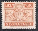 Sellos de Europa - San Marino -  San Marino 1945 Segnatasse 0.10Lire