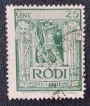 de Europa - Italia -  Islas del Egeo RODI 25 cent