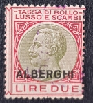 de Europa - Italia -  Tassa Di Bollo Lusso E Scambi Overprint Alberghi Tax Stamp