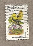 Stamps United States -  Flores y aves-New Jersey