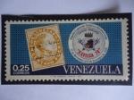 de America - Venezuela -  Exfilca 70 - Segunda Exposición Filatélica Interamericana 1970 - Sello Escuelas dentro de otro sello