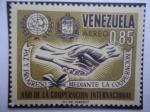 de America - Venezuela -  Año de la Coopereación Internacional - Paz y Progreso Mediante la Cooperación