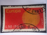Stamps : Europe : Italy :  Europa - C.E.P.T. - Flamante Sol - Tejidos.