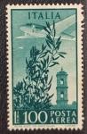 Sellos de Europa - Italia -  1948 Airmail 100 Lire Italia