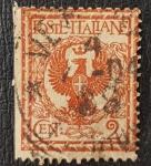 de Europa - Italia -  1901 Italia Regno Floreale Aquila Sabauda 2 cent
