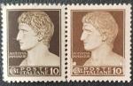 de Europa - Italia -  2 x Augustus Imperator 10 cent