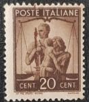 de Europa - Italia -  Poste Italiane 1946, 20c United Family & Scales