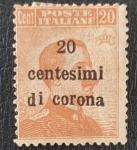 Stamps Italy -  Poste Italiane, Vittorio Emanuele III, 20 centesimi de corona 1919