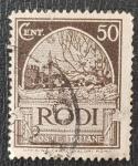 de Europa - Italia -  Poste Italiane, 1929, RODI, 50 cent