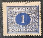 de Europa - Checoslovaquia -  ČESKOSLOVENSKO DOPLATNÉ 1 KORUNA, 1928