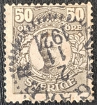 Sellos de Europa - Suecia -  Sweden 50 Öre - King Gustaf V