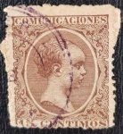 Stamps Spain -  Spain, Alfonso XIII 15 Centimos, 1889
