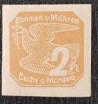 Stamps Czechoslovakia -  Bohemia & Moravia, 2 haleru, 1939