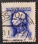 Stamps Czechoslovakia -  Slovensko, Hlinka 1.30 Ks, 1943
