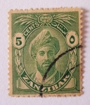Stamps Tanzania -  Zanzibar, Sultan Kalif bin Harub, 1936, 5c