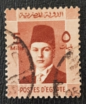 Sellos de Africa - Egipto -  King Farouk, 5 mills, 1937