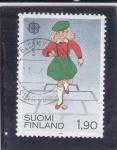 Stamps Finland -  EUROPA CEPT-NIÑA JUGANDO