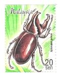 Stamps : Asia : Malaysia :  INSECTOS.  XYLOTRUPES  GIDEON.