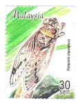 Stamps : Asia : Malaysia :  INSECTOS.  POMPONIA  IMPERATORIA.