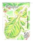 Stamps : Asia : Malaysia :  INSECTOS.  PHILLIUM  PULCHRIFOLIUM