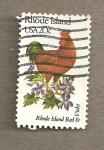 Sellos de America - Estados Unidos -  Flores y aves-Rhode Island