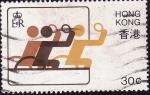 Stamps Hong Kong -  Ping pong