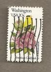 Sellos de America - Estados Unidos -  Flores y aves-Washington