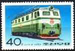 Stamps : Asia : North_Korea :  LOCOMOTORAS.  LOCOMOTORA  ELÉCTRICA  PULGUNGI.