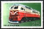 Stamps : Asia : North_Korea :  LOCOMOTORAS.  LOCOMOTORA  DIESEL  KUMSONG.