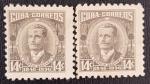 Sellos de America - Cuba -  2 x Serafin Sanchez, 1956, 14 c