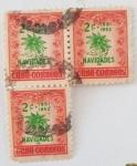 Sellos de America - Cuba -  Navidades, 2c x 3, 1951