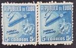 Sellos del Mundo : America : Cuba : 2 x Tabaco Habano, 5 c, 1958