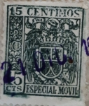 Stamps : Europe : Spain :  15 céntimos especial movil