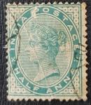 Sellos del Mundo : Asia : India : British India, QUEEN VICTORIA, Half Anna, 1855