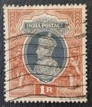 Sellos del Mundo : Asia : India : King George VI, 1 Rupee, 1937
