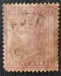 Sellos del Mundo : Asia : India : Queen Victoria, 8 annas, 1882