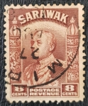 Stamps : Asia : Malaysia :  Sarawak, 1934 Sir Charles Vyner Brooke 8c, 1934