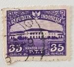 Stamps : Asia : Indonesia :  Kantor Pusat PTT, 35 sen, 1953