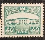 Stamps : Asia : Indonesia :  Kantor Pusat PTT, 40 sen, 1953