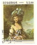 Sellos de America - Ecuador -  Retrato de Lady Sheffield. T. Gainsborough 1727-1788