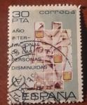 Stamps : Europe : Spain :  Año internacional de las personas disminuidas