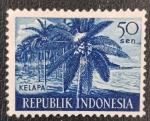 Stamps : Asia : Indonesia :  Kelapa, coconut palms, 50 sen, 1960