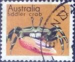 Stamps : Oceania : Australia :  Scott#555 , dmg intercambio 0,20 usd, 2 cents. , 1973